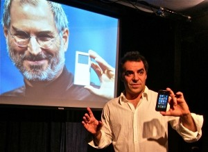"""Mia Bonadonna's Stage and Cinema review of """"The Agony and the Ecstasy of Steve Jobs,"""" Theatre Asylum, Hollywood."""