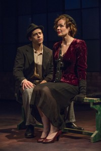 Nate Santana and Nina O'Keefe in Griffin Theatre Company's production of GOLDEN BOY by Clifford Odets, directed by Jonathan Berry.