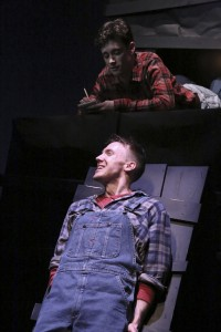 Josey McCoy (top) and Mark Whitten (below) star in the LA MIRADA THEATRE FOR THE PERFORMING ARTS production of FLOYD COLLINS, directed by Richard Israel .