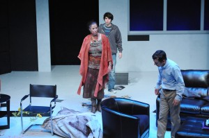 Roma Maffia, Tyler Bremer, Brian Mulligan in Cal Rep's production of Edawrd Albee's THE GOAT.