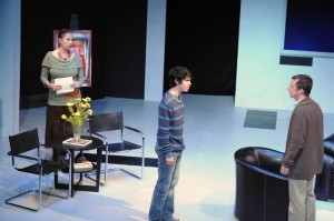 Roma Maffia, Tyler Bremer and Brian Mulligan in Cal Rep's production of Edawrd Albee's THE GOAT.