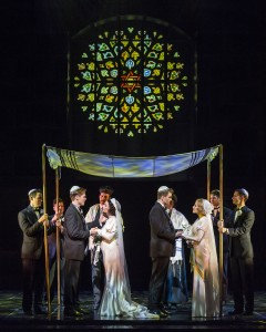 The cast of Barry Manilow's HARMONY at the Ahmanson Theatre, Los Angeles.