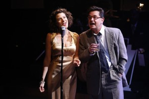Cyrille Aimée and Evan Pappas in CAFE SOCIETY SWING at 59E59 Theaters. Photo by Carol Rosegg
