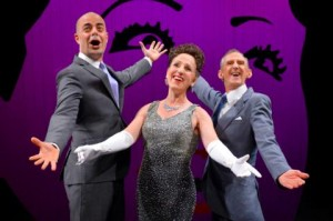 Martin Grimwood, Denise Wharmby & Don Bridges perform in Call Me Miss Birds Eye - A Celebration of Ethel Merman at A.C.T.'s Geary Theater..