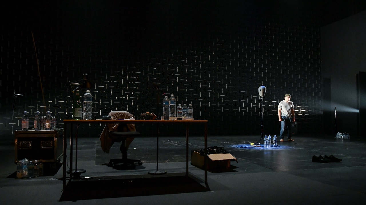 the encounter A walk across your brain: simon mcburney in his one-man show the encounter at the golden theater credit sara krulwich/the new york times.