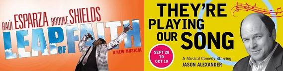 Post image for LEAP OF FAITH (Ahmanson) and THEY'RE PLAYING OUR SONG (Reprise/Freud Playhouse) – Los Angeles Musical Theater Review