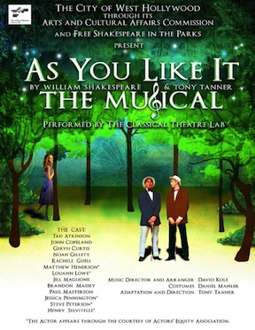 Post image for LA Theater Review: AS YOU LIKE IT – THE MUSICAL (Classical Theatre Lab)