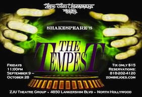 Post image for Los Angeles Theater Review: THE TEMPEST (Zombie Joe's Underground Theater Group)