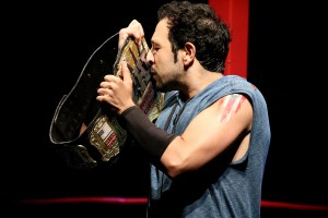 The Elaborate Entrance of Chad Deity by Kristoffer Diaz – directed by Edward Torres –  Geffen Playhouse – with Desmin Borges – Los Angeles Theater Review by Harvey Perr