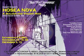 Post image for Los Angeles Theater Review: HOSEA NOVA: A JEALOUS AND VIOLENT MAN (Zombie Joe's Underground)