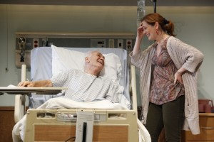 Off Broadway Theater Reviews by Harvey Perr – plays by Nicky Silver, Adam Rapp, and Zoe Kazan - The Lyons with Linda Lavin - directed by Mark Brokaw - Dreams Of Flying Dreams Of Falling with Christine Lahti - We Live Here with Amy Irving directed by Sam Gold - Vineyard Theatre, Atlantic Theater Company, and Manhattan Theatre Club