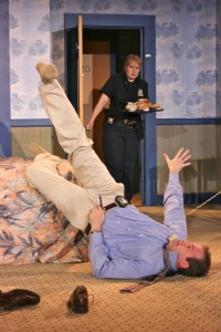 Unnecessary Farce by Paul Slade Smith at the First Folio Theatre – directed by Alison Vesely – Chicago Theater Review by Dan Zeff