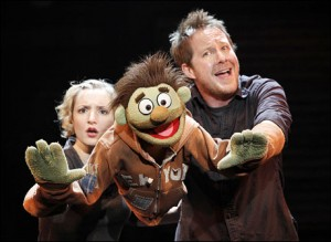 "With Maggie Lakis in ""Avenue Q"""