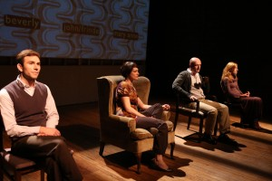 The Civilians in You Better Sit Down: Tales From My Parents' Divorce at The Flea – directed by Anne Kaufman – Off Broadway Theater Review by Harvey Perr