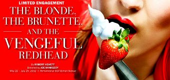 Post image for Chicago Theater Review: THE BLOND, THE BRUNETTE, AND THE VENGEFUL REDHEAD (Writers' Theater in Glencoe)