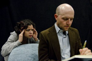 Lawrence Bommer's Stage and Cinema review of Will Act For Food's THE TRAIN PLAY at the Oracle Theatre in Chicago