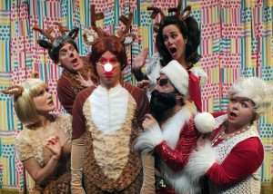 Tony Frankel's Stage and Cinema review of Troubadour Theater Company's Rudolph the Red Nosed Reindoors at the Falcon Theatre in Burbank