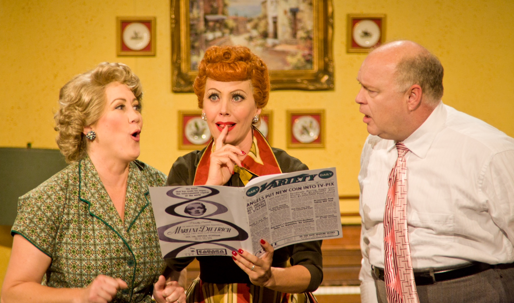 Chicago Theater Review I Love Lucy Live On Stage