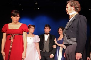 "Jason Rohrer's Stage and Cinema review of Impro Theatre's ""Jane Austen UnScripted"" Upstairs at Pasadena Playhouse"