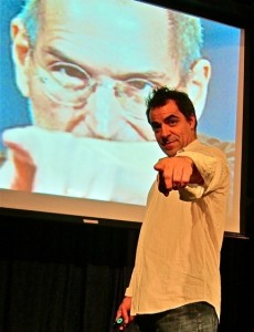 "Mia Bonadonna's Stage and Cinema review of ""The Agony and the Ecstasy of Steve Jobs,"" Theatre Asylum, Hollywood."