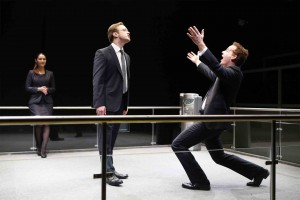 Dmitry Zvonkov's Stage and Cinema NY review of BULL, Brits Off Broadway 59E59 Theaters.