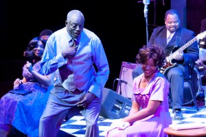 "Lawrence Bommers Stage and Cinema Chicago review of Black Ensemble Theater's ""Ain't No Crying the Blues (In The Memory of Howlin Wolf)."""