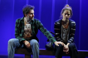 "Dmitry Zvonkov's Stage and Cinema Off Broadway review of MCC Theater's ""Reasons to Be Happy"" at the Lucille Lortel."