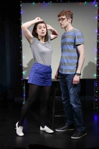 Dmitry Zvonkov's Stage and Cinema review of DIRTY GREAT LOVE STORY at Brits Off Broadway at 59E59 Theaters.
