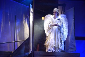Tom Chaits' Stage and Cinema review of Elephant Theatre Company's world premiere of Samuel Brett Williams' REVELATION at the Lillian Theatre in Hollywood.