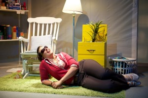 Paul Kubicki's Stage and Cinema review of Sideshow Theatre Company's BURDEN OF NOT HAVING A TAIL at Chicago Dramatists.