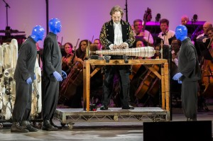 Tom Chaits' Stage and Cinema Los Angeles review of BLUE MAN GROUP in concert at the Hollywood Bowl