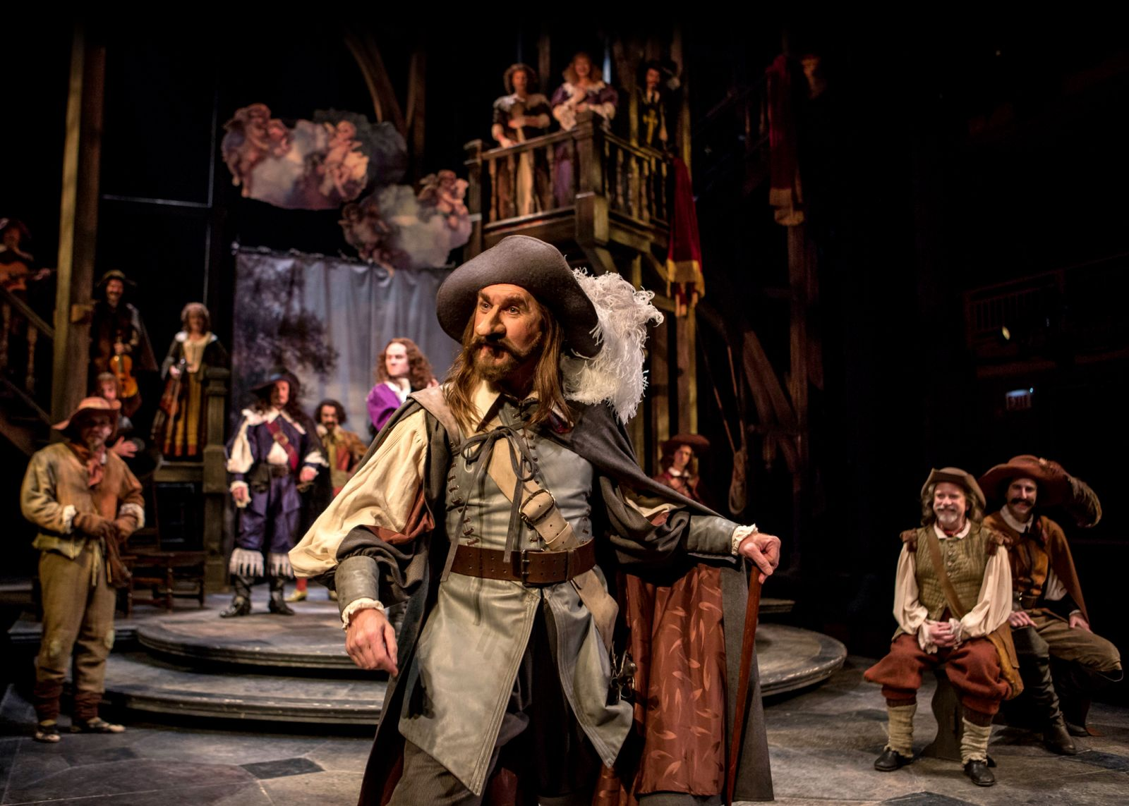 chicago theater review cyrano de bergerac chicago shakespeare harry groener in chicago shakespeare s production of cyrano