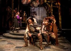 (L to R) Ryan Borque, Harry Groener and Sean Fortunato in Chicago Shakespeare's production of CYRANO.