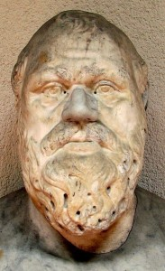 A bust of Socrates