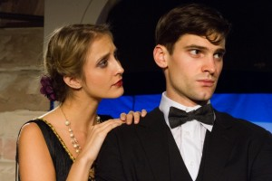 "Alexis Kelley and Jeff Kline in the Storm Theatre production of ""The Play's The Thing"" by Ferenc Molnar adapted by P.G. Wodehouse"