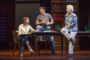 Ashley Williams, Sebastian Arcelus and Tom Skerritt in Broadway's A TIME TO KILL.
