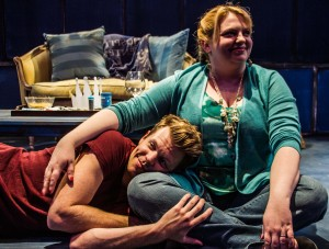 Brian Dare and Kelly Schumann star in the West Coast premiere of the Celebration Theatre production of THE HOMOSEXUALS.