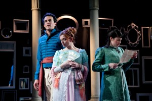 Carl Lindberg, Darci Nalepa and Sarah Price in Remy Bumppo's production of NORTHANGER ABBEY.