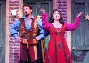 Davis Gaines and Victoria Strong in Cabrillo Music Theatre's KISS ME, KATE