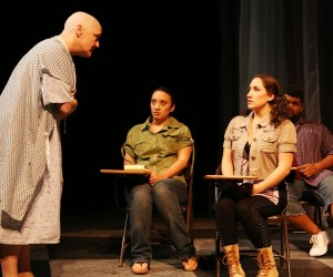Deborah Gilmour Smyth, Kaja Amado Dunn, Caitie Grady & Bryan Barbarin in Lamb's Players production of WIT.