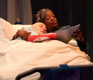 Deborah Gilmour Smyth & Sylvia M'Lafi Thompson in Lamb's Players' production of WIT.