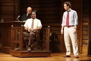 Fred Dalton Thompson, John Douglas Thompson, and Sebastian Arcelus in Broadway's A TIME TO KILL.