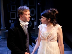 Greg Matthew Anderson and Sarah Price in Remy Bumppo's production of NORTHANGER ABBEY.