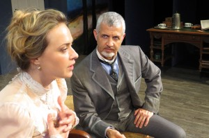 Heather Anne Prete (as Tekla) and Jack Stehlin (as Gustav) in CREDITORS.