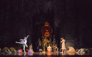 A scene from Joffrey Ballet's LA BAYADÈRE-THE TEMPLE DANCER.