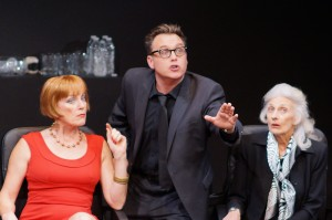 Karesa McElheny, Scott Kradolfer and Irene Roseen in the NOHO ARTS CENTER ENSEMBLE World Premiere production of THE LIGHT BULB, written by Joshua Ravetch and directed by James J. Mellon.