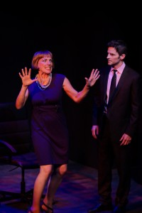 Karesa McElheny and Robert Arbogast star in the NOHO ARTS CENTER ENSEMBLE World Premiere production of THE LIGHT BULB, written by Joshua Ravetch and directed by James J. Mellon.