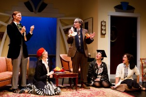 """Katie Honiker, Madeleine Maby, Susan Finch, Sara Montgomery & Francesca Day in """"The Learned Ladies"""" - Cake Productions and The New Ateh Theater Group."""