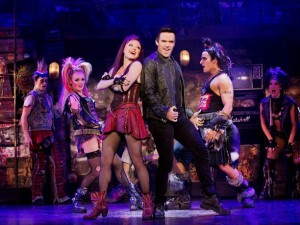 (L to R) Erica Peck, Ruby Lewis, Brian Justin Crum & Jared Zirilli in WE WILL ROCK YOU - THE MUSICAL by QUEEN and Ben Elton.