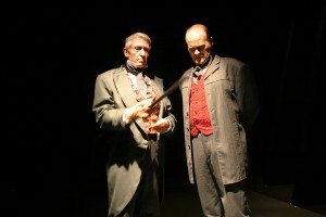 Mark Bramhall and Isaac Wade in Actors Co-op's production of DR. JEKYLL AND MR. HYDE.